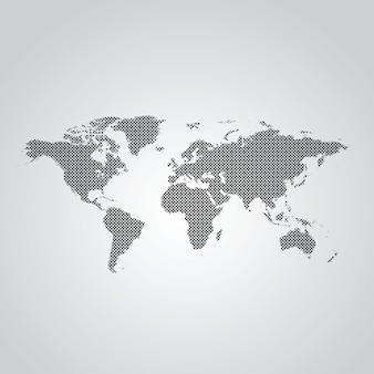 点在する世界地図