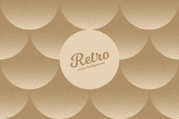 Ретро dotwork пунктирная текстура абстрактный фон