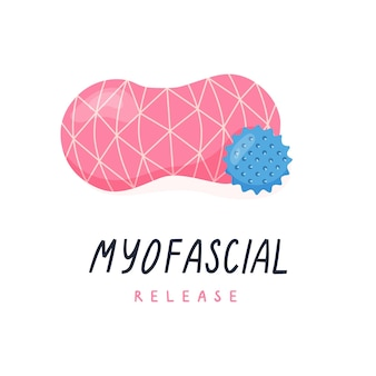 Double ball for neck massage and trigger point ball for myofascial release yoga pilates