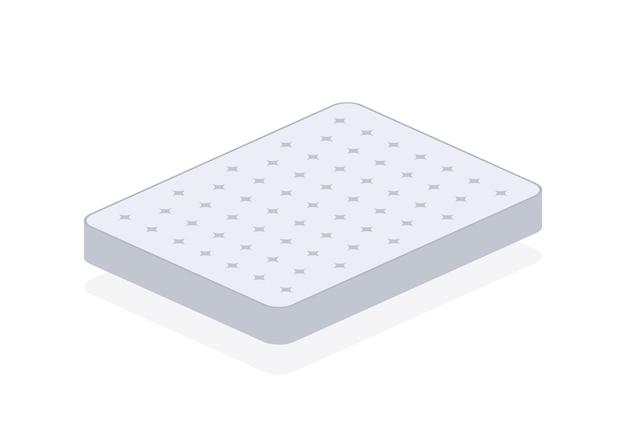 더블 침대. 편안한 더블 매트리스 수면, 모든 목적을 위한 훌륭한 디자인. 수면 개념입니다. 매트리스 아이콘입니다. 벡터 재고 일러스트 레이 션.