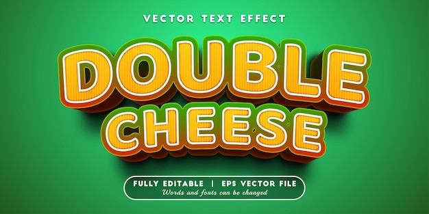 Double cheese text effect with editable text style