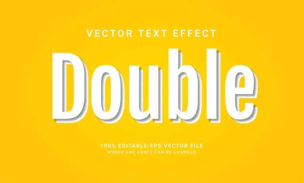 Double editable text style effect with minimalist concept