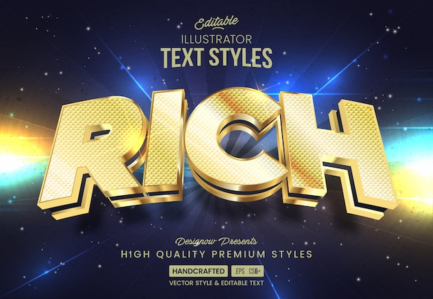 Double gold text style