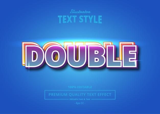 Double illustrator text effect