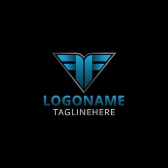 Double letter f modern logo design