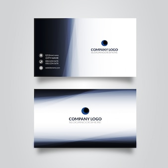 Double-sided blue business card template