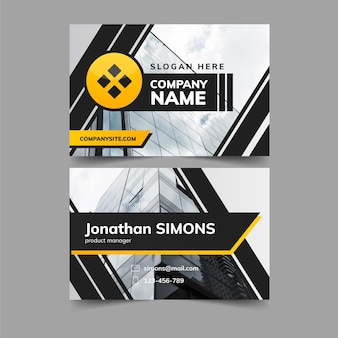 Double sided business card template