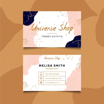 Double-sided business card template