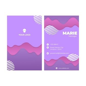 Двухсторонний шаблон визитной карточки
