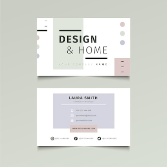 Double sided business card template Premium Vector