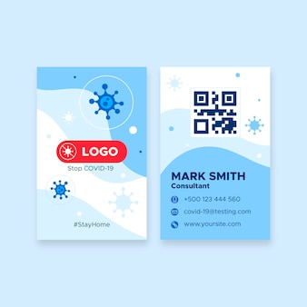 Double-sided business card vertical