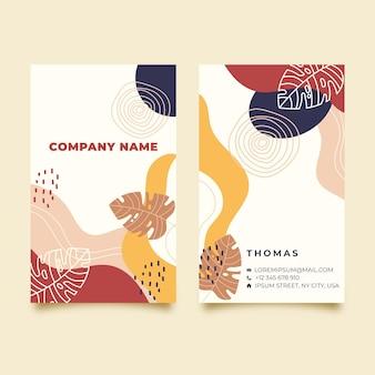 Двухсторонняя визитка