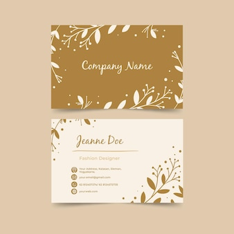 Double-sided horizontal business card