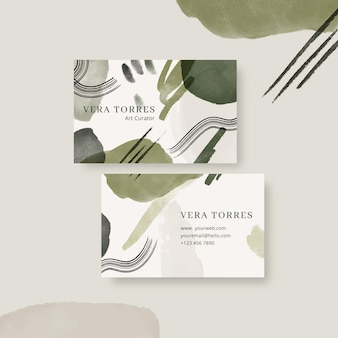 Double-sided horizontal business template in brown tones