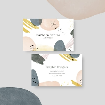 Double-sided horizontal business template