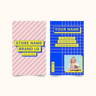 Double-sided vertical business card
