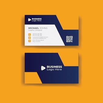 Doublesided creative business card template portrait and landscape orientation
