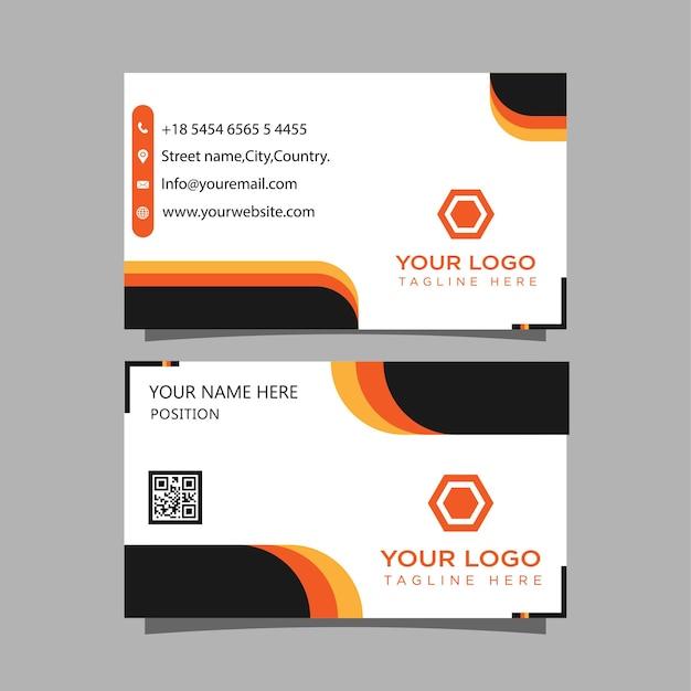 Двухсторонний креативный векторный шаблон дизайна визитной карточки визитная карточка для бизнеса и личного