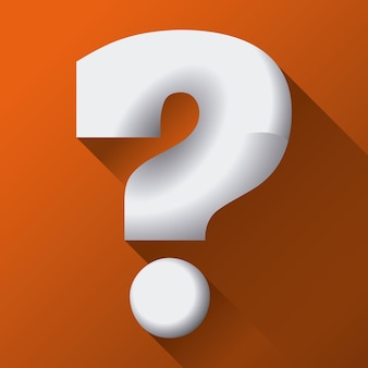 Doubt design over orange background vector illustration