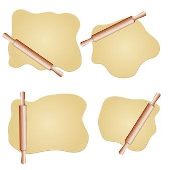 生地と麺棒の図