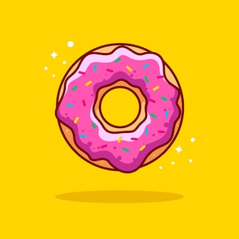 Doughnut illustration with outline