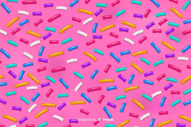 Doughnut pink delicious glaze background