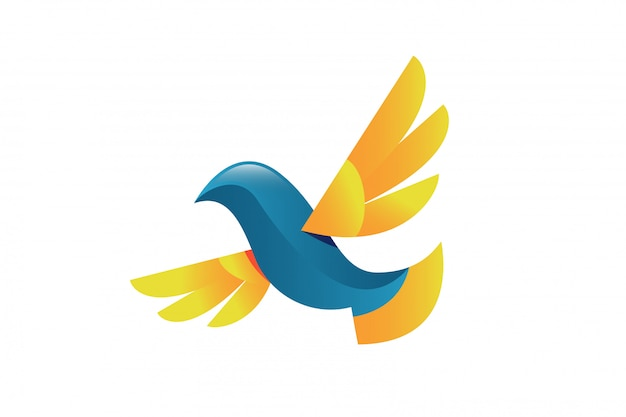 Dove bird vector concept illustration