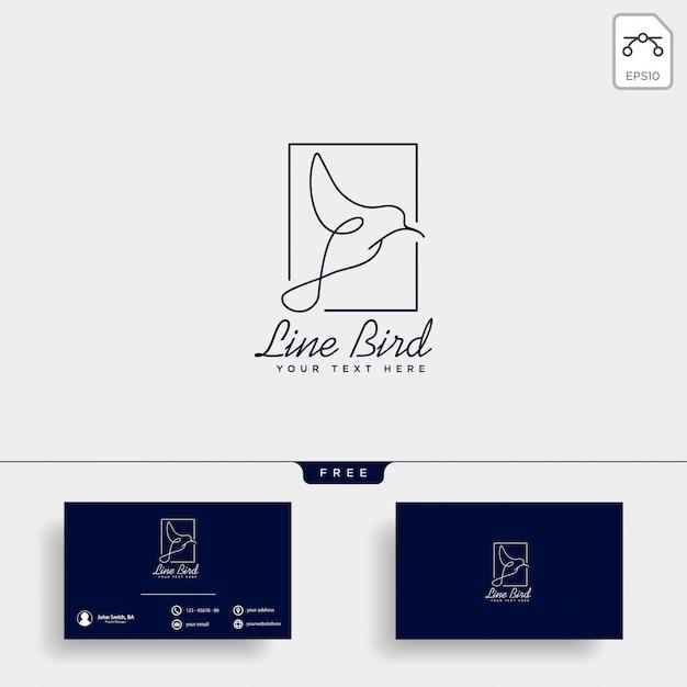 鳩飛ぶ鳥化粧品ロゴのテンプレートベクトルのアイコン