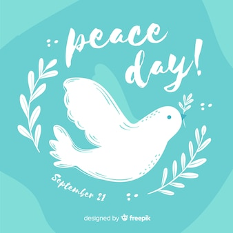 Dove for peace day hand drawn