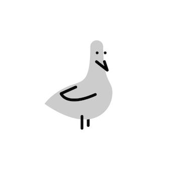 鳩。太字の線スタイルのベクトルのロゴ