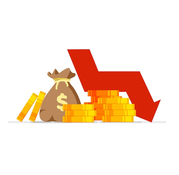 Down arrow stocks graph world financial crisis price drop bankruptcy collapse economy
