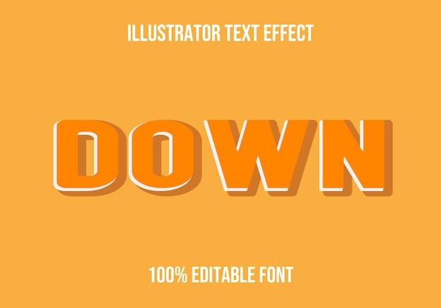 Down editable text effect