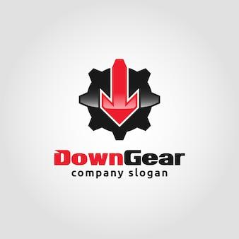Down gear - auto service logo