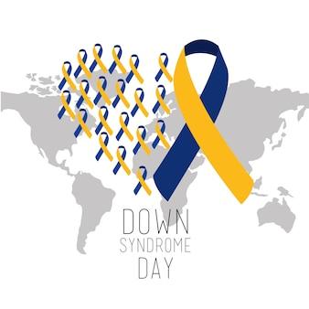 ダウン症候群の日の世界地図国際キャンペーン