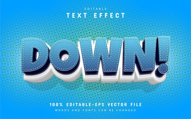 Down text effect cartoon style