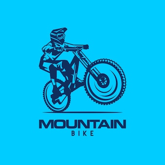 Downhill bicycle logo vector