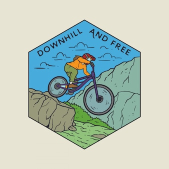 Downhill monoline badge