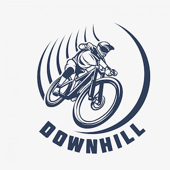 Downhill mountain bike logo