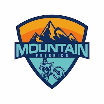 Downhill mountain logo vector
