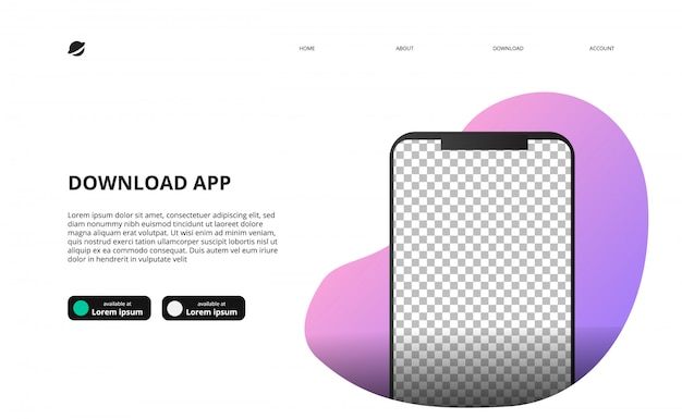 Download app landing page