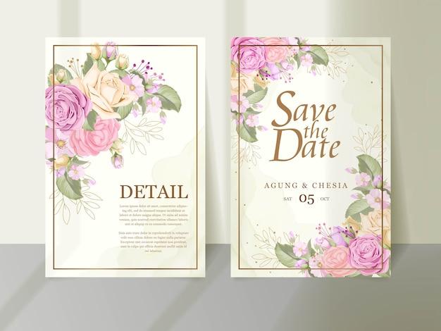 Скачать красивый дизайн шаблона свадебного приглашения
