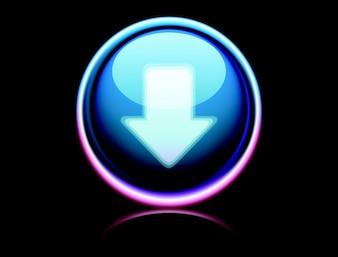 Download button vector digital art