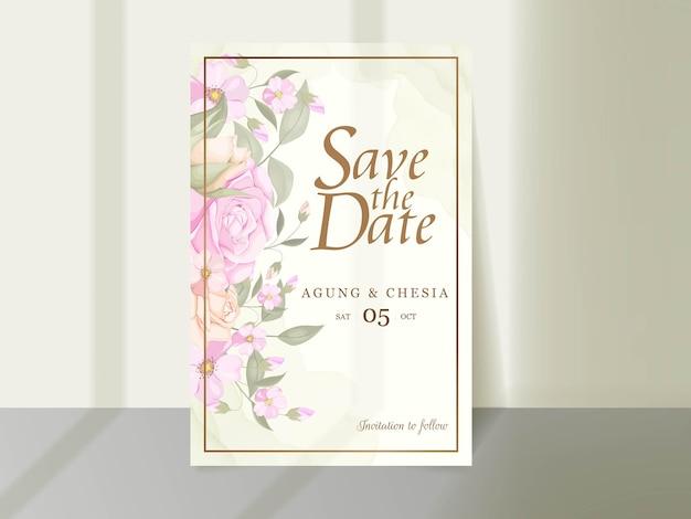 Download elegant wedding invitation template design