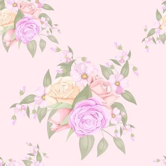 花のシームレスなパターンのファッションデザインをダウンロード