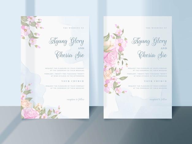 Download floral wedding invitation template design