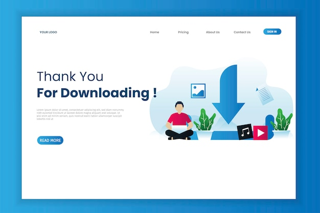 Download landing page template