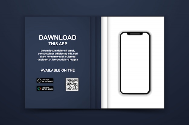 Download page of the mobile app