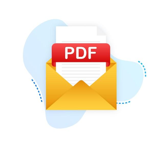 노트북 화면의 pdf 버튼 다운로드 문서 개념 다운로드
