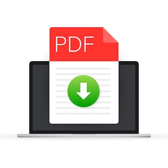 Download pdf file icon. spreadsheet document type.