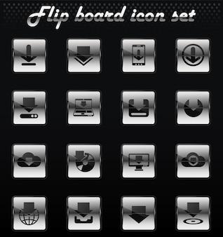 Скачать векторные флип механические иконки для дизайна пользовательского интерфейса